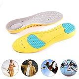 Womdee Gel Semelles de Confort, pour Homme et Femme Chaussures à Semelle intérieure Semelles de Remplacement et d'un Confort Travail Anti-Fatigue, Taille L