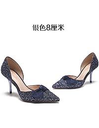 Urano, Zapatos de Tacón con Punta Cerrada para Mujer, Azul (Cielo 016), 39 EU Calzados Marian