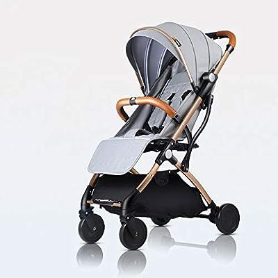 Bck Tipo Ligero cochecito plegable Se puede sentar y acostar Carrito de una sola pieza, multiusos, ultraligero, seguro y cómodo Carrito para niños recién nacido