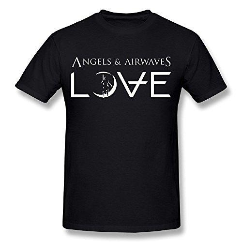 Golden dosa Men's Angels & Airwaves Logo T-Shirt Black Short Sleeve