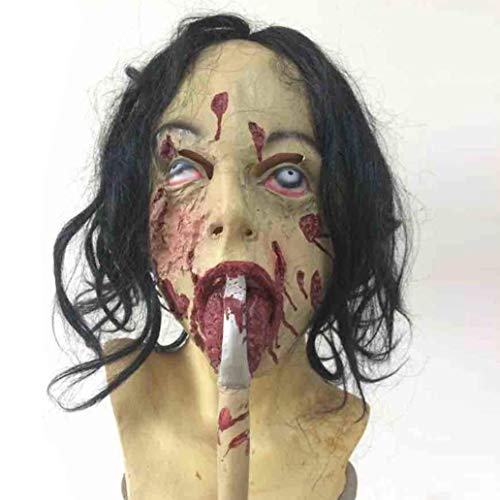 Unbekannt Halloween Blutige Silikon-Maske, Horror-Zombie-Mumie Stirnband Maske Erwachsenen Kostüm Party Cosplay (Eine Größe)