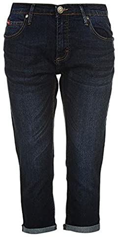 Ladies Casual 5 Classic Open Pockets Cropped Jeans (10, Dark