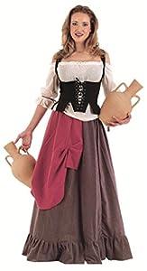 Limit Sport - Disfraz de tabernera medieval Eliana, para adultos, talla XL (MA414)