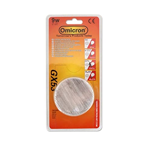 Omicron GX53 9 Watt 3500 k Compact Fluorescent Light