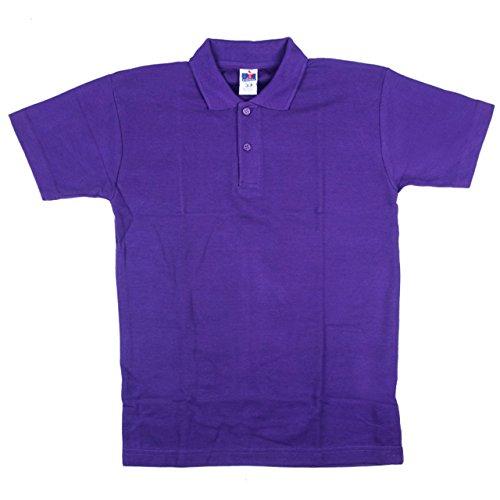 Neue OU Unisex Schuluniform Polo Shirt Sport Top Shirt verschiedene Farben Größen: 20-48 Violett - Violett