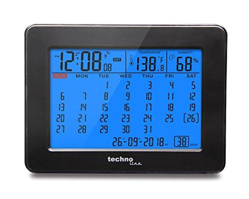 Technoline WT 2500 Orologio Digitale, Nero, 19x5.7x12 cm