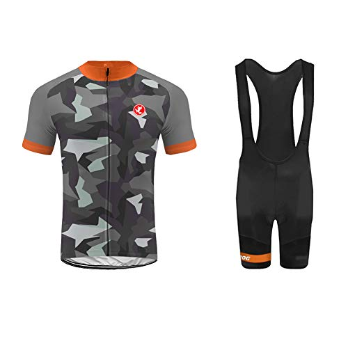 Kurze Einbaustrahler (Uglyfrog XIN03 2019 Neu Sommer Herren Radsport Trikots & Shirts Bike Wear Kurzarm Cycling Jersey+Bib Kurze Hosen with Gel Pad Set Schnelltrocknend Sport Bekleidung)