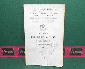 Beiträge zur Biologie und Anatomie der Spatangiden. (= Mitteilungen der naturforschenden Gesellschaft Freiburg Zoologie, Band I, Heft 2).