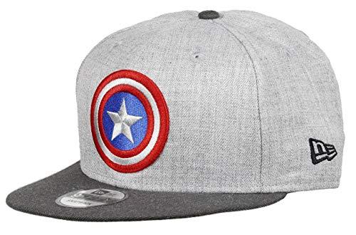 New Era Captain America 9fifty Snapback Cap Comic Graphite Heather Graphite - One-Size