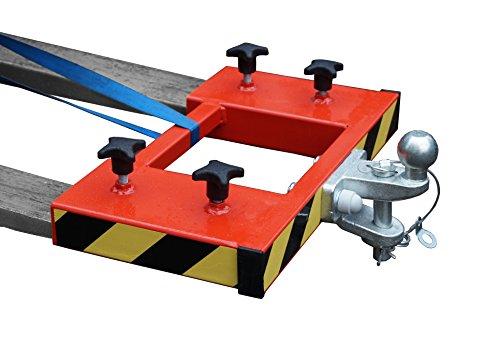IB_KL Rangierhilfe für Gabelstapler Anhänger Stapler Kugelkopf Zugmaul Radlader Wohnwagen Gabeln maximal 130x50 Farbe rot doppelt