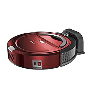 Pifco P28027 Self Docking Robot Vacuum Cleaner, Red