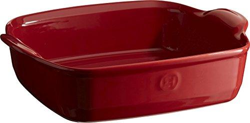 Emile Henry Eh349550 Plat à Four Carré Céramique Rouge Grand Cru 28 X 23 X 7,5 cm