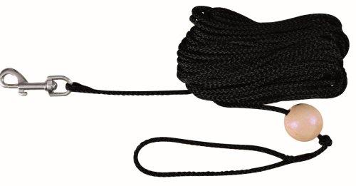 Trixie 19791 Schleppleine mit Holzkugel, 10 m/ø 6 mm, schwarz