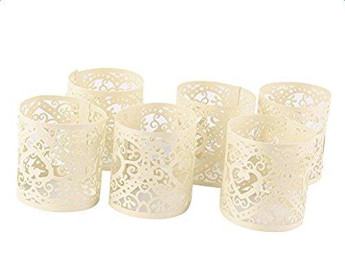 Hohl Lampenschirm aus Papier Delicate Blume Lantern für LED Licht Hochzeit/Party/Bar Zubehör, Laterne Serie (Weiß) (Kleine Papier-laternen)