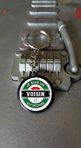 Porte clés 25 mm Je suis un Voisin Qui Déchire