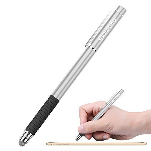 SAWAKE Touchstift, Eingabestift Smartphone, passiver Stylus Stift mit 2 Passive Faserspitzen, Stylus Pen mit 3 Ersatzspitzen, passiver Stylus Stift für Kondensator& resistiven Touchscreen