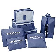 Idea Regalo - DoGeek - 7pack Organizer Valigia Cubi Organizzatori Organizzatori di Viaggio Cubi Imballaggio Cubi di Imballaggio Packing Cubes - Confezione da 7 taglie