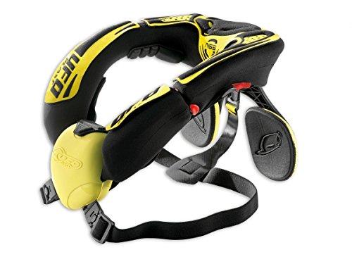 Collare di protezione collo enduro offroad karting UFO con supporto giallo