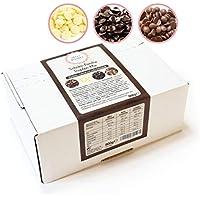 Sweet Wishes Chocolate belga para fondue. 900 gr. Mix de chocolate con leche, negro y blanco para fuentes de chocolate. 10 sobres embalados individualmente.