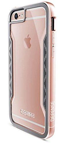X-Doria 444682 Defense Shield Aluminium Schutzhülle für Apple iPhone 6 Plus/6S Plus rosa/gold Pink