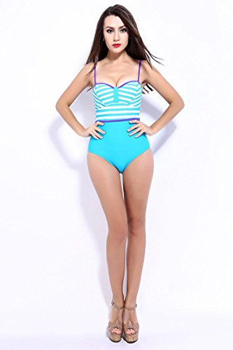 SHISHANG Weibliche Bikini heiße Quellen zurück zu schwimmen Badeanzug Europa und die Vereinigten Staaten große Stück schwarzer Badeanzug Green