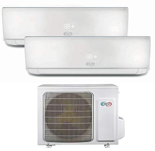 Klimaanlage 9000 + 12000 Btu Dual Split Inverter mit Wärmepumpe Klasse A++/A+ Ecolight Dual Split