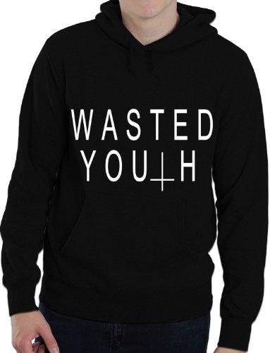 Wasted Youth Umgedrehtes Kreuz Hipster Indie Unisex-Erwachsene Sweatshirt S-XXL