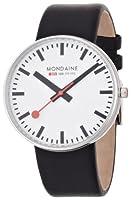 Reloj de caballero Mondaine A660.30328.11SBB de cuarzo, correa de piel color negro de Mondaine