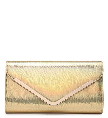 Hautefordiva , Damen Clutch gold S gold