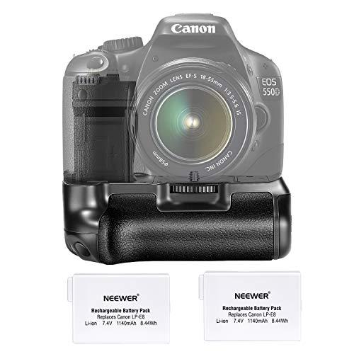 Neewer Akku Griff mit 2x LP-E8Akku für Canon EOS 550D/600D/650D/700D Rebel T2i/T3i/T4i/T5i Kamera