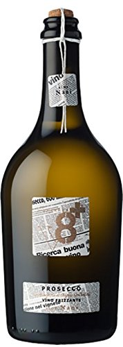 Sior Nani Prosecco DOC Spago V8+ Vineyeards Vino Spumante Frizzante 1 X 75 Italian Sparkling Wine Brut 41XdANCHPdL