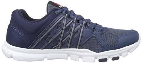 Reebok Yourflex Trainer 8.0, Chaussures de Fitness Homme Bleu (Royal Slate/Collegiate Navy/White)