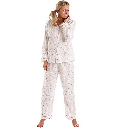 Lady OLGA biancheria notte donna pigiama da donna corto maniche lunghe abbigliamento COMODO pigiama set NUOVO TAGLIE FORTI rosa manica lunga da bambino pigiama