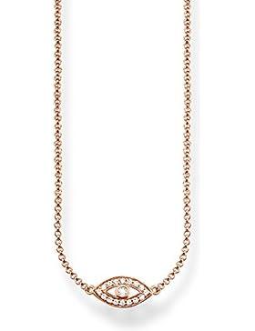 Thomas Sabo Damen-Collier Glam & Soul 925 Sterling Silber 750 rosegold vergoldet Länge von 38 bis 42 cm KE1385...