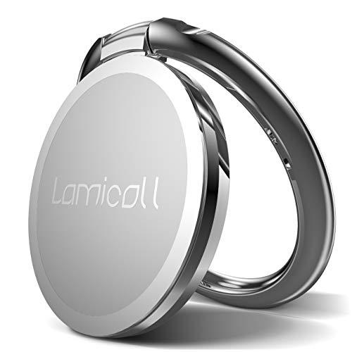 Lamicall Ring Handy Halter, Finger Ring Stand : Universal 360° Handy Selfie Halterung Ständer für Phone XS Max XR X 8 7 6 6s Plus, Samsung Galaxy S10 S9 S8 S7 S6 S5 S4 - Silber