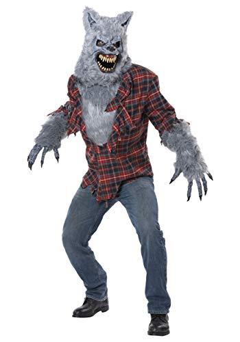 Kostüm Ani Motion - Generique - Werwolf Kostüm mit Ani-Motion Maske für Erwachsene S / M