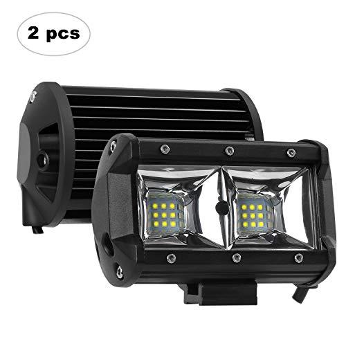 AAIWA Foco Led,Faro Luz 5 Inch 54w 2pcs, Focos LED de Trabajo,Luces Antiniebla IP67 Impermeable y Potente para Coche,Todoterreno Camion,Quad,Moto,Tractor,4x4