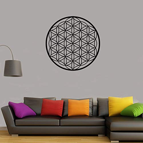 WSYYW Leben Blume Wandbild Dekorative Wandaufkleber Geometrische Muster Mandala Wandtattoo Vinyl Wohnkultur Applique Garten Wandaufkleber Teal 21 30x30 cm