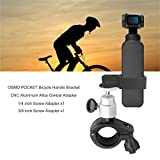 Rantow Rotazione a 360 ° Morsetto per bicicletta da bicicletta Supporto per staffa manubrio Stabilizzatori per porta telecamera portatili per DJI Osmo Pocket