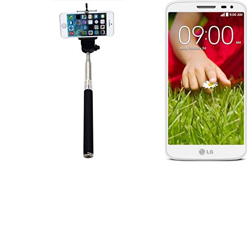 Selfie Stick z.B. für LG Electronics G2 Mini, schwarz, kabelgebunden, Monopod, Stab Stange Selfportrait, Handheldstick