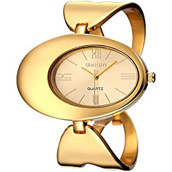 Sheli Master of Bling Oval Dial Gold Uhren Magic Full Stahl Damen Damen Armbanduhr Kleid Uhr Reloj Mujer