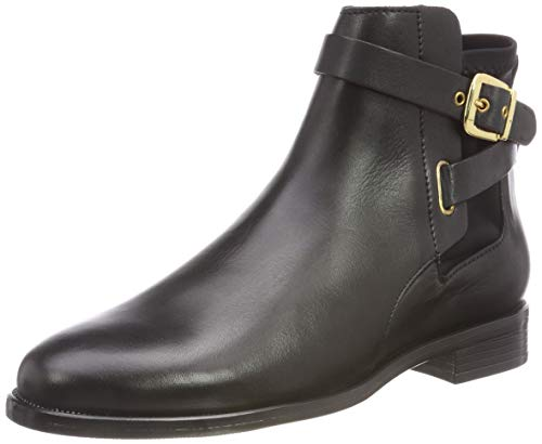 Buffalo Damen Aqua Sky Sauvage Leather Stiefeletten, Schwarz (Black 01 00), 39 EU