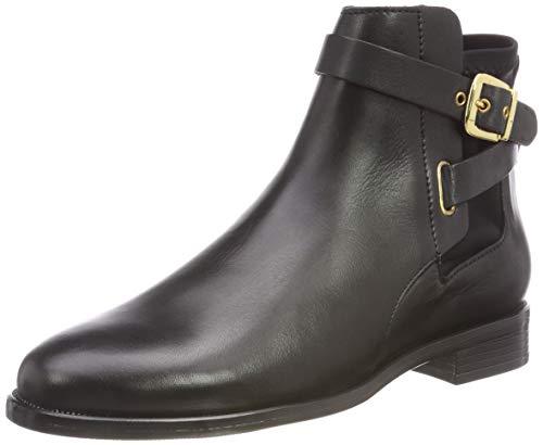 Buffalo Damen Aqua Sky Sauvage Leather Stiefeletten, Schwarz (Black 01 00), 40 EU
