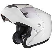 Shox Bullet Flip Front Motorcycle Helmet L Gloss White