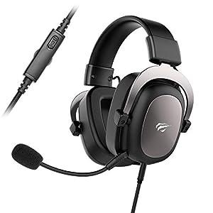 HAVIT Gaming Headset für PS4 Stereo PC Headset mit abnehmbare Mikrofon, Over-Ear Kopfhörer mit 53MM Treiber für Xbox…