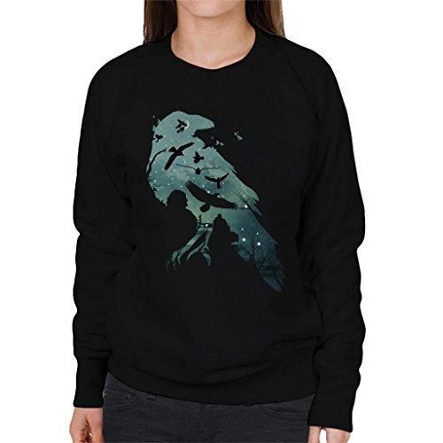 Cloud City 7 Game Of Thrones Murder Of Crows Women's Sweatshirt (Womens Snow Walker)