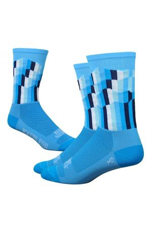 DeFeet – Socken DEFEET Ridge Supply Grid Blau – L (43 – 45,5) (Blau Defeet Socken)