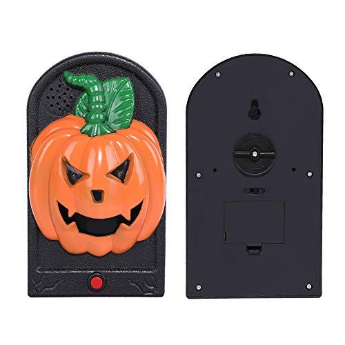 DANSPEED Schreckliche Kürbis-Türklingel-Dekorationen Halloweens für Geisterhaus-beängstigende Türklingel-leuchtende Augen-gruselige ()