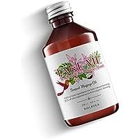 Olio da Massaggio Sensuale 250ml - Olio Puro per il Corpo, Massaggio Schiena - Assorbimento Lento - Profumo Monoi, Ricino, Cocco, Vaniglia - Prodotto in Francia