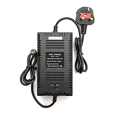24v Lithium Battery Charger 0-2amp 2ah For Mobility Scooter & Electric Wheelchairs Charges 10amp - 15amp UK Plug